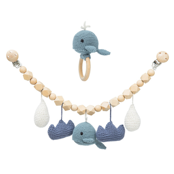 Splash pram chain and teether