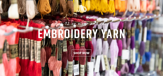 Embroidery yarn with volume discount
