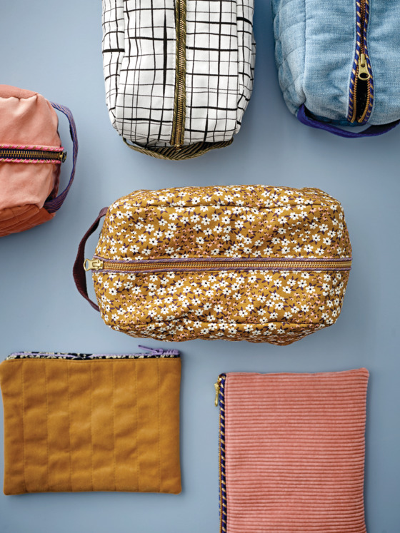 Toiletry bags with nice finish
