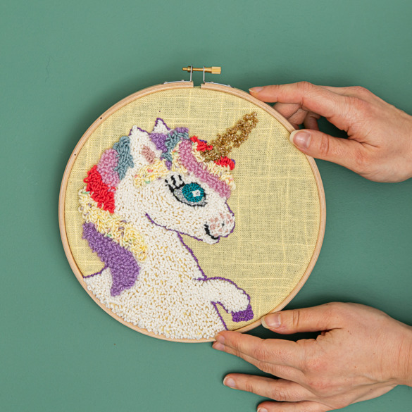 Punch needle unicorn